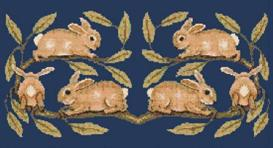 Morris Rabbits Cross Stitch Pattern | Other Files | Arts and Crafts