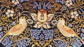 morris two birds cross stitch pattern