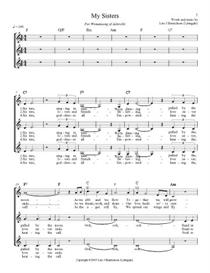 My Sisters - sheet music, SSA | Music | Miscellaneous