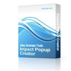 Impact Popup Creator | Software | Utilities