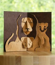 Fatherhood Lion - EasyCutPopup | eBooks | Arts and Crafts