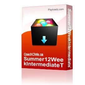 Summer12WeekIntermediateThursdayMTBRacePlan | Other Files | Documents and Forms