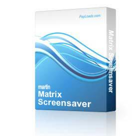 Matrix Screensaver | Software | Screensavers