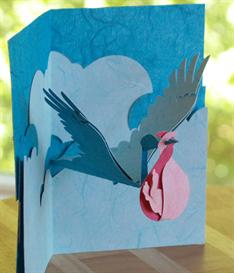 Stork and Baby - EasyCutPopup | eBooks | Arts and Crafts