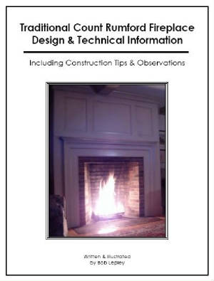 Traditional Count Rumford Fireplace Design Technical