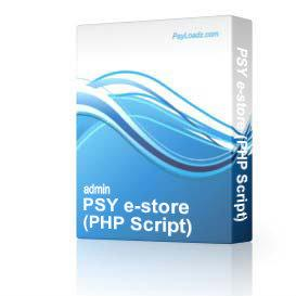 PSY e-store (PHP Script) | Software | Business | Other