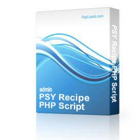 PSY Recipe PHP Script | Software | Business | Other