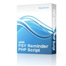 PSY Reminder PHP Script | Software | Business | Other