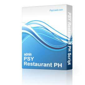 PSY Restaurant PH Script | Software | Business | Other