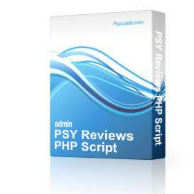 PSY ReviewsPHP Script | Software | Business | Other