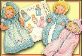 Make a 12 Cloth Baby Doll & 7 pc Layette! Circa 1940's! | eBooks | Arts and Crafts