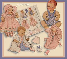 9-11 Baby Doll Layette 1937 vintage pattern | eBooks | Arts and Crafts