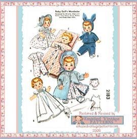 8-9 Baby Doll Layette Vintage Pattern circa 1950's | eBooks | Arts and Crafts
