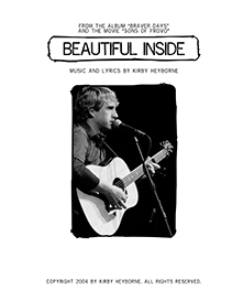 kirby heyborne - beautiful inside guitar tab and lyrics