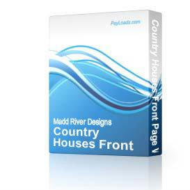 Country Houses Front Page Web Template | Software | Software Templates