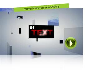 movie trailer text animations