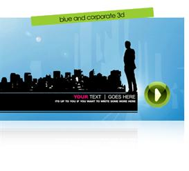 blue & corporate vector 3d