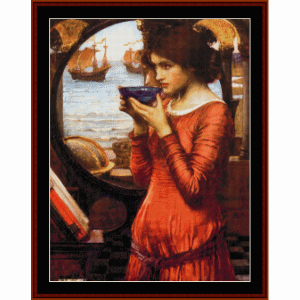 destiny - waterhouse cross stitch pattern by cross stitch collectibles