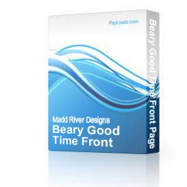 Beary Good Time Front Page Web Template