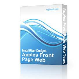 Apples Front Page Web Template