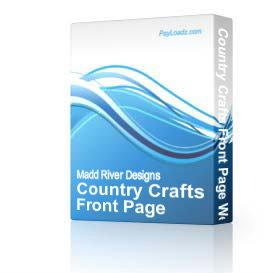 Country Crafts Front Page Web Template