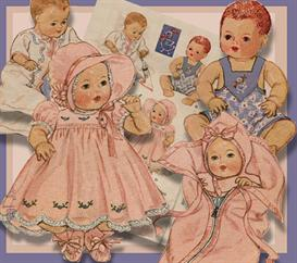 4-6 Baby Doll Layette 1937 vintage pattern | eBooks | Arts and Crafts