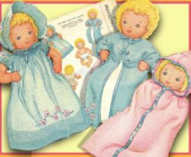 Make an 5 Cloth Baby Doll & 7 pc Layette! Circa 1940's! | eBooks | Arts and Crafts