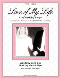 love of my life - piano/vocal sheet music - digital download