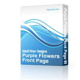 Purple Flowers Front Page Web Template | Software | Design Templates