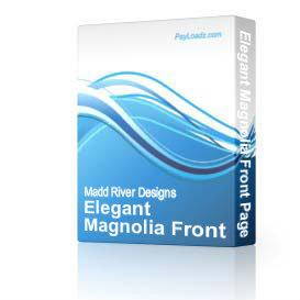 Elegant Magnolia Front Page Web Template | Software | Design Templates