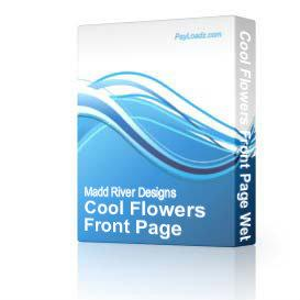 Cool Flowers Front Page Web Template | Software | Design Templates