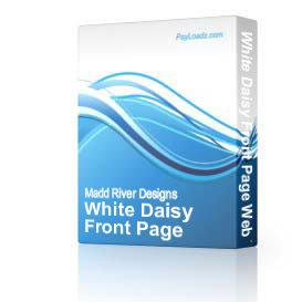 White Daisy Front Page Web Template | Software | Design Templates