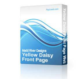 Yellow Daisy Front Page Web Template | Software | Design Templates