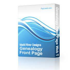Genealogy Front Page Web Template | Software | Design Templates
