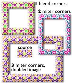 frames, borders in adobe photoshop mac and pc