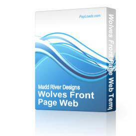 Wolves Front Page Web Template | Software | Design Templates
