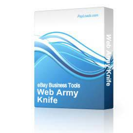Web Army Knife | Software | Add-Ons and Plug-ins