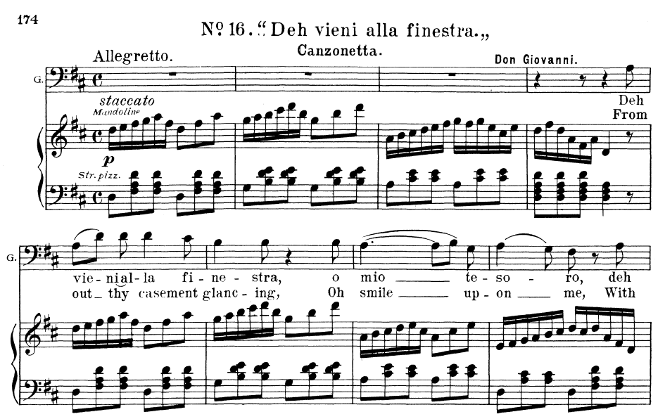 Deh vieni alla finestra aria for baritone or bass w a mozart don giovanni vocal score - Mozart don giovanni deh vieni alla finestra ...