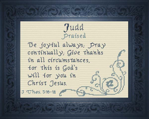 Name Blessings - Judd | Crafting | Cross-Stitch | Other