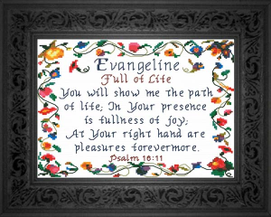 Name Blessings - Evangeline 2 | Crafting | Cross-Stitch | Other