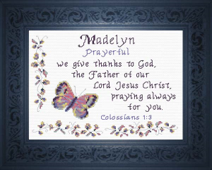 Name Blessings - Madelyn 4 | Crafting | Cross-Stitch | Religious