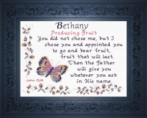 Name Blessings - Bethany 2 | Crafting | Cross-Stitch | Religious