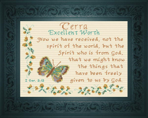 Name Blessings - Terra | Crafting | Cross-Stitch | Religious
