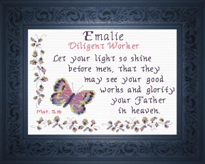 Name Blessings - Emalie | Crafting | Cross-Stitch | Religious