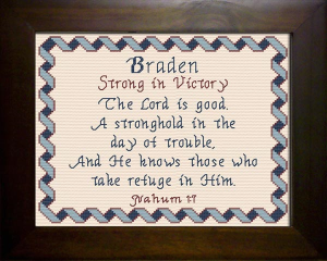 Name Blessings - Braden | Crafting | Cross-Stitch | Religious