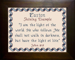Name Blessings - Easton | Crafting | Cross-Stitch | Religious