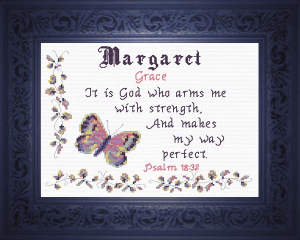 Name Blessings - Margaret | Crafting | Cross-Stitch | Religious