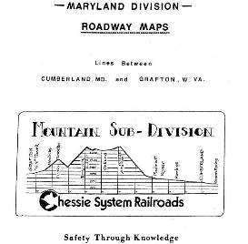 Chessie/CSX Railroad Maryland Division Road Maps Book