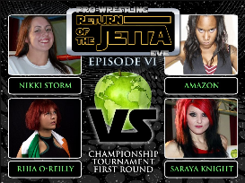 nikki storm vs saraya knight vs amazon vs rhia o reilly