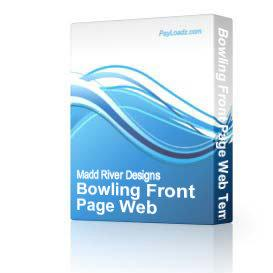 Bowling Front Page Web Template | Software | Design Templates